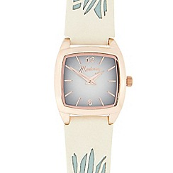 Mantaray - Ladies' white and rose gold tonneau watch