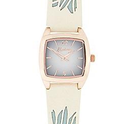 Mantaray - Ladies' white and rose gold tonneau watch
