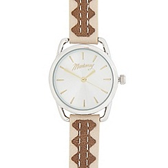 Mantaray - Ladies' brown and silver analogue watch
