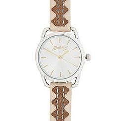 Mantaray - Ladies' brown and silver analogue watch