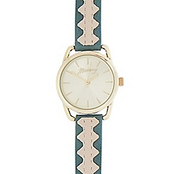 Mantaray - Ladies' green and gold analogue watch
