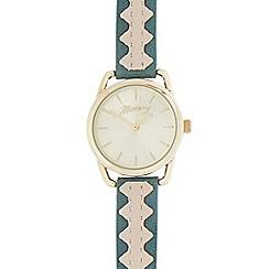 Mantaray - Ladies' green and gold analogue watch