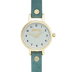 Mantaray - Ladies' dark turquoise and gold analogue watch
