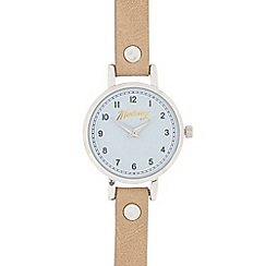 Mantaray - Ladies' light tan and silver analogue watch