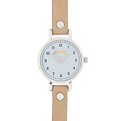 Mantaray - Ladies' light tan and silver analogue watch