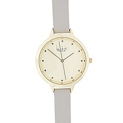 Principles by Ben de Lisi - Ladies' grey and gold double length second hand watch