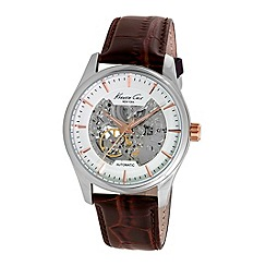 Kenneth Cole - Men's brown automatic strap watch