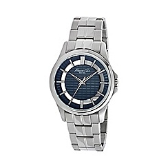 Kenneth Cole - Men's blue and silver bracelet watch