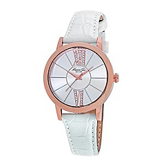 Kenneth Cole - Ladies white strap watch
