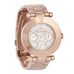 RJR.John Rocha - Ladies rose round dial bracelet watch