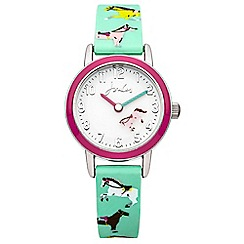 Joules - Girls horse printed silicone strap watch