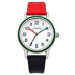 Joules - Boys red/navy pop colour strap watch