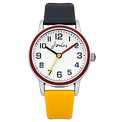 Joules - Boys navy/yellow pop colour strap watch