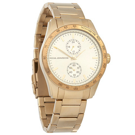 RJR.John Rocha - Ladies gold large dial watch