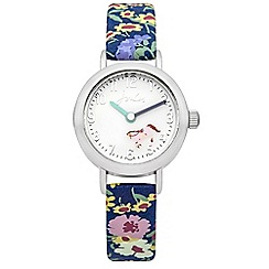 Joules - Girls rotating disc floral printed strap watch