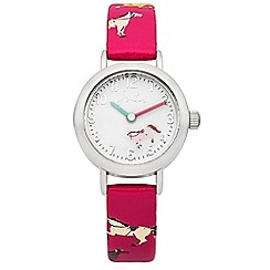 Joules - Girls rotating disc horse printed strap watch