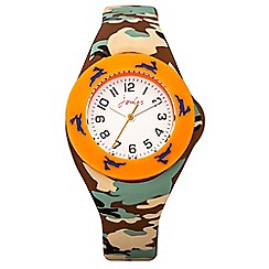 Joules - Boys camouflage pop out watch set