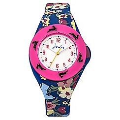 Joules - Girls floral pop out watch set
