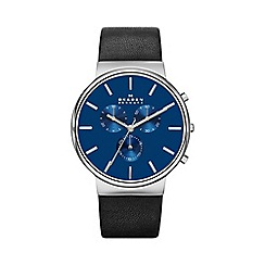Skagen - Gents black strap watch skw6105