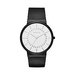 Skagen - Gents black strap watch skw6243