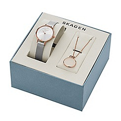 Skagen - Ladies watch and necklace gift set