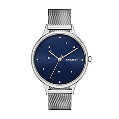 Skagen - Ladies grey mesh strap watch