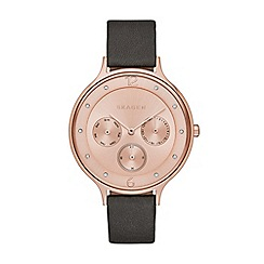 Skagen - Ladies rose gold chronograph strap watch