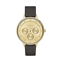 Skagen - Ladies gold chronograph strap watch skw2393
