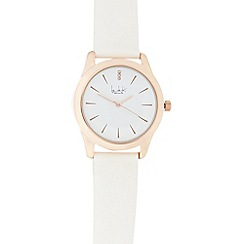 Principles by Ben de Lisi - Ladies white and rose gold concave watch