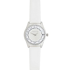 Red Herring - Ladies' white transparent watch