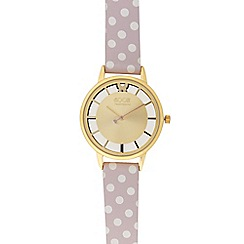 Floozie by Frost French - Ladies pink spotted print analogue watch
