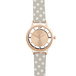 Floozie by Frost French - Ladies grey spotted print analogue watch