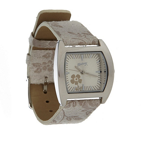 Mantaray - Ladies natural floral strap watch