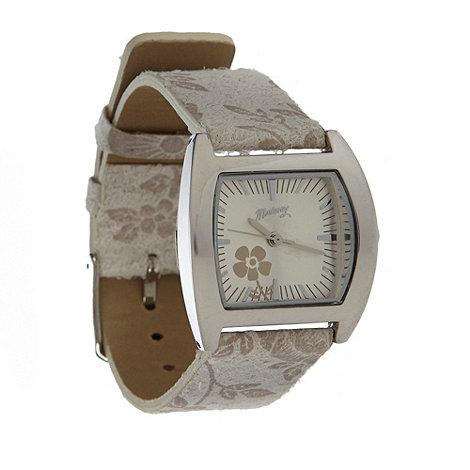 Mantaray - Ladies natural floral strap watch