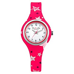 Iris & Edie - Ladies pink star print watch