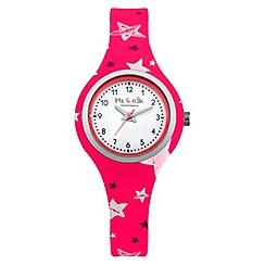 Iris & Edie - Ladies pink star print watch