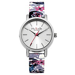 Iris & Edie - Ladies white floral print watch