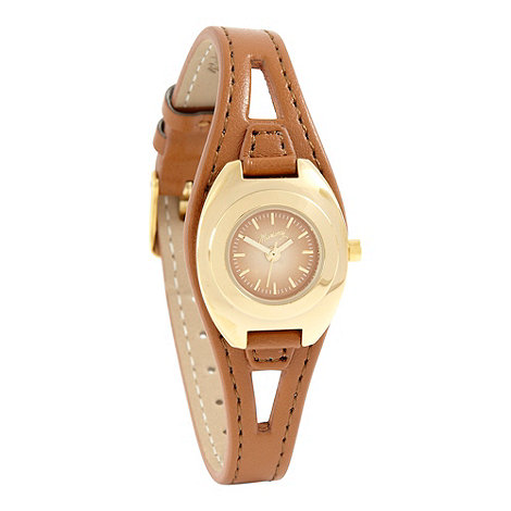 Mantaray - Ladies tan mini dial watch
