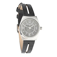 Infinite - Ladies black split strap watch
