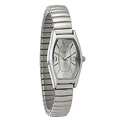 Infinite - Ladies silver stretch cord bracelet watch