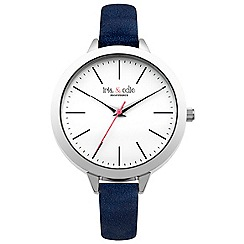 Iris & Edie - Ladies dark blue skinny strap watch