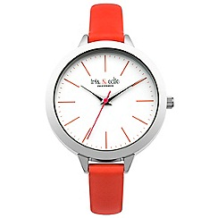 Iris & Edie - Ladies bright pink skinny strap watch