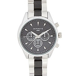 Infinite - Men's silver plated mock multi dial watch