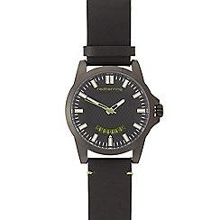 Red Herring - Men's black leather watch
