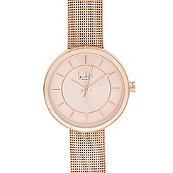 Principles by Ben de Lisi - Ladies' rose gold mesh strap watch
