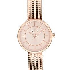 Principles by Ben de Lisi - Ladies' rose gold mesh strap watch