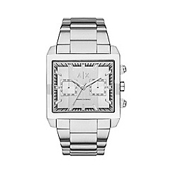 Armani Exchange - Men's silver chronograph bracelet watch