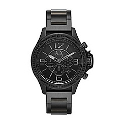 Armani Exchange - Men's black chronograph bracelet watch