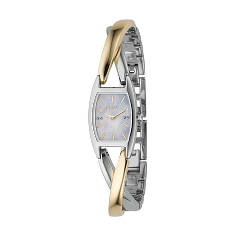 DKNY - Ladies silver and gold twist watch