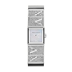 Armani Exchange - Ladies silver glitz bracelet watch